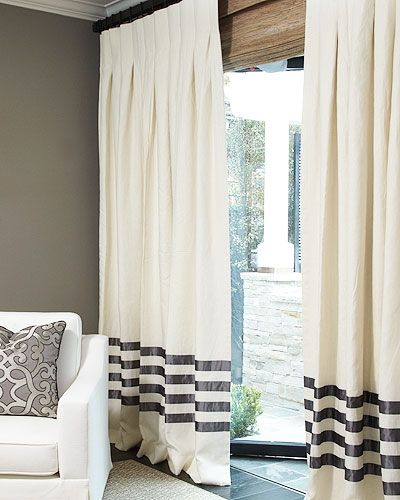 """""""dream living room""""  Cool drapes to pull it all together Summer/spring drapes The Hotel Drape in Linen"""
