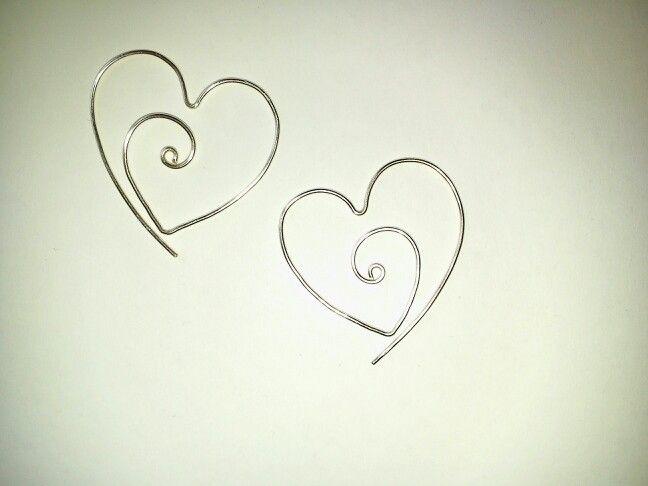 #heart earrings #jewel #hamdmade #hobby