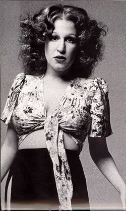 Bette Midler, 1972 @Kassie Alderson Fleming. Made me think of when you forced me to watch Beaches. lol!
