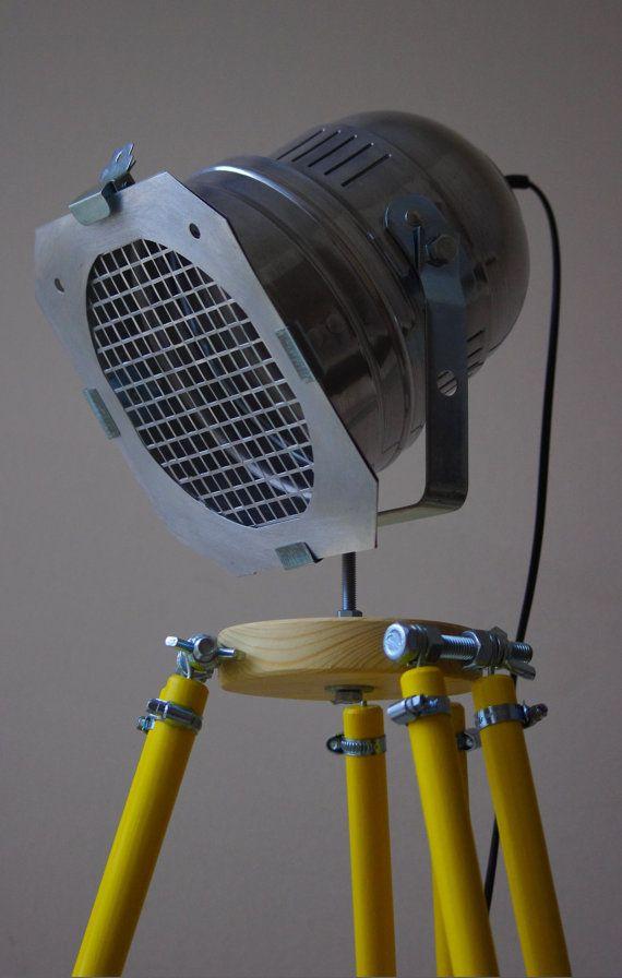 STANDING LamP REFLECTOR LofT Tripod YELLOW