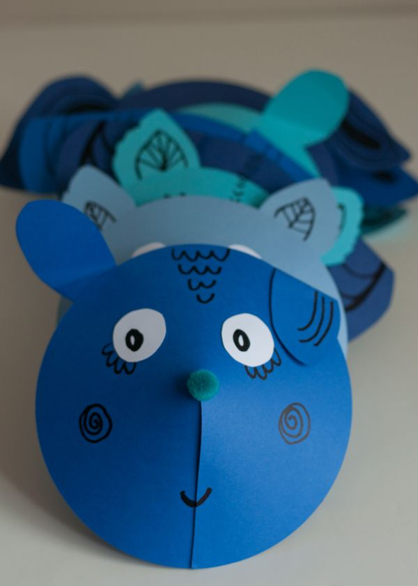 Paper Animal Faces | this heart of mine  #kidscraft #preschool #animalcraft