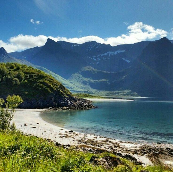 Beach somewhere in the Lofoten Archiapelago, Northern Norway!