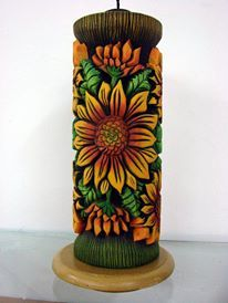 HAND CARVED CANDLE, VELAS TALLADAS