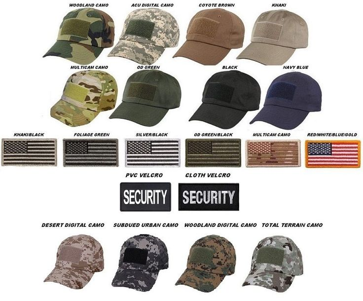 Low Profile Adjustable Tactical Operator Hat W/Flag or Security Patch 9362 #2 #Rothco #TacticalCap