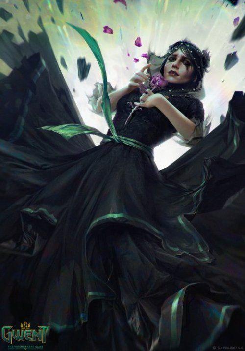 as ilustraa aµes de fantasia para o game gwent the witcher card game de anna podedworna