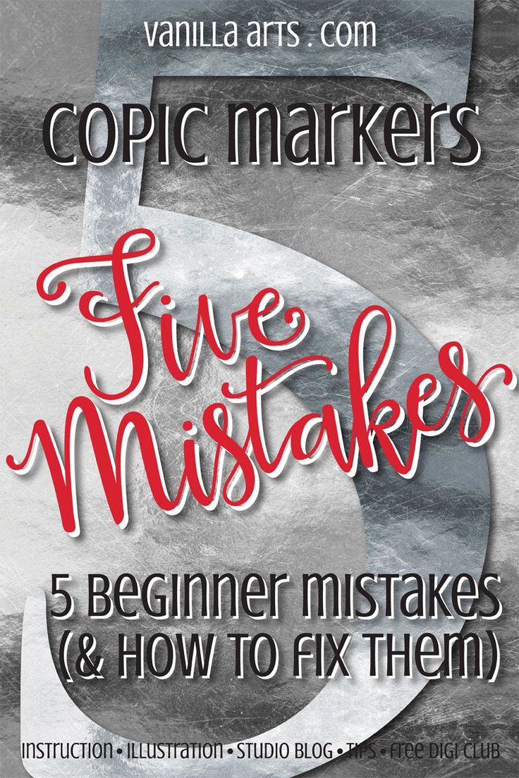 5 mistakes beginning Copic colorers make- and how to fix them | VanillaArts.com