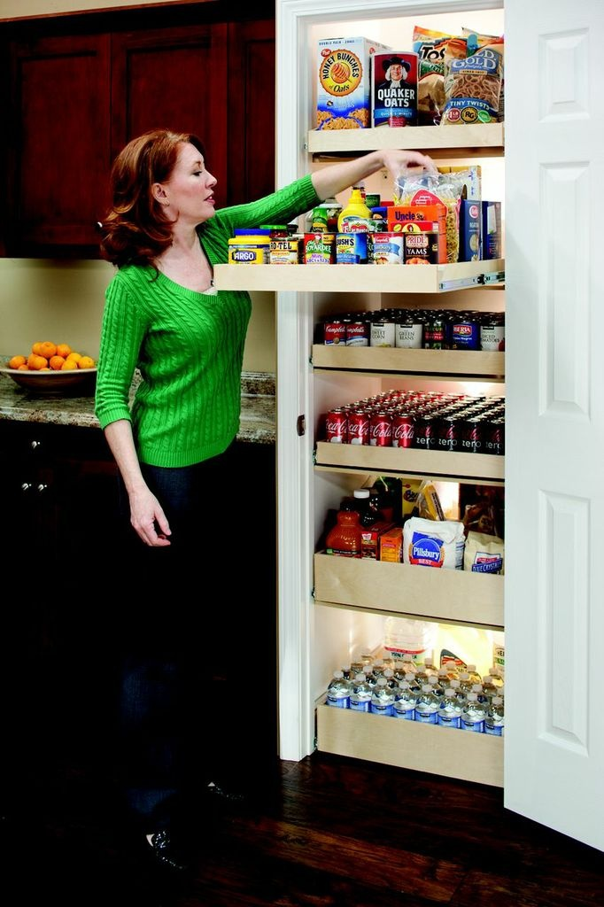 17 best images about kitchen organization on pinterest for Best pantry shelving system