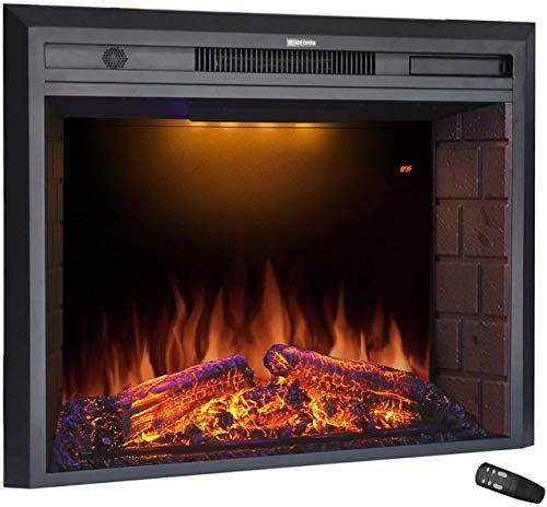 Enjoy Exclusive For Masarflame 33 Electric Fireplace Insert Retro Recessed Fireplace Heater Fire Cracking Sound Remote Control Timer 750 1500w Black Onl In 2020 Recessed Electric Fireplace Electric Fireplace Fireplace Heater