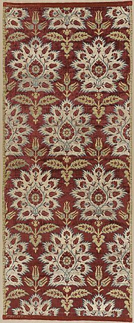 17th Century ottoman silk velvet • carnation and tulip design (via ottoman textiles)