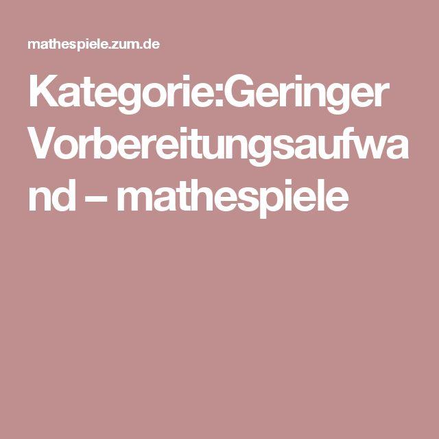 Kategorie:Geringer Vorbereitungsaufwand – mathespiele