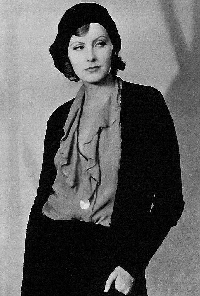 Greta Garbo- I'm not sure this film this is from, but the outfit brings to mind Faye Dunaway in Bonnie and Clyde decades later.