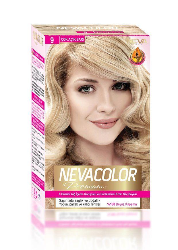 Nevacolor Premium Sac Boyasi 9 Cok Acik Sari Sac Boyasi Sac Yag
