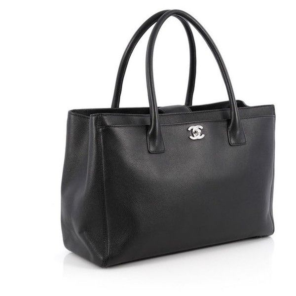 Chanel Cerf Executive Tote Leather Medium ($2,595) ❤ liked on Polyvore featuring bags, handbags, tote bags, genuine leather handbags, real leather tote, real leather tote bag, tote purses and chanel tote