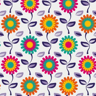 Fondo multicolor con flores