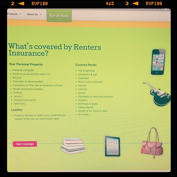 New Renters Insurance for the apartment