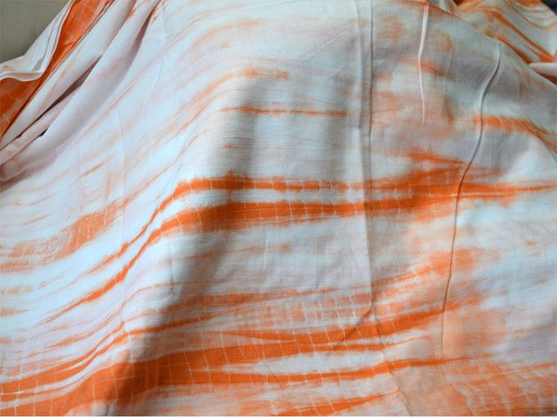 Tissu imprim orange machine tie dye coton produits et Teinture tissu coton