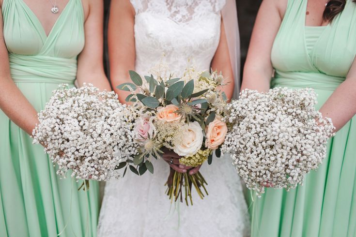 Gypsophila Bouquets by Amaryllis Flower Boutique | http://www.rockmywedding.co.uk/rmw-rates-amaryllis-flower-boutique/