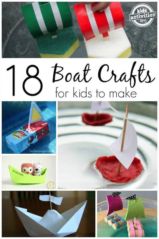18 Boat Crafts for Kids: Easy fun boats for kids to make that will really float in a pond, pool or bathtub!  Such a fun way to let your kids experience that joy of good-old-fashioned play like you did when you were a kid! - Happy Hooligans.