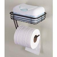 InterDesign Classico Toilet Paper Holder with Shelf $9 - http://www.gadgetar.com/interdesign-classico-toilet-paper-holder-shelf/
