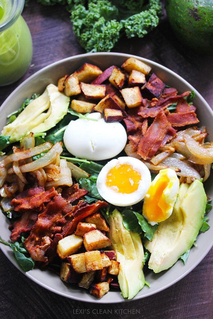 Green Goddess Dressing & Breakfast Salad - Lexi's Clean Kitchen @AlexisKornblum