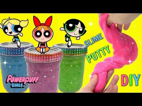 The PowerPuff Girls Do It Yourself Glue SLIME RECIPE - YouTube