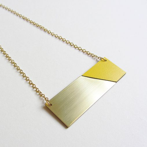 Brass yellow necklace