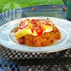Omuraisu (Japanse omelet met rijst) @ allrecipes.nl