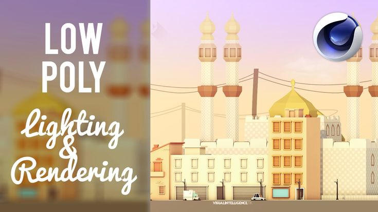 How to Properly Light & Render a Low Poly Scene in Cinema 4D