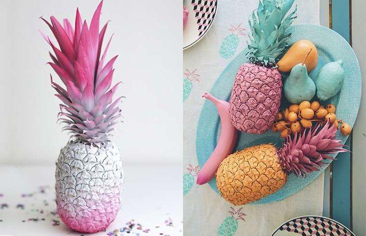 Tendência de decoração: objetificação do abacaxi
