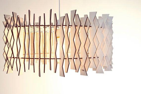 Il paralume sfalsato  tamburo / legno Lampade di ACockneyGentleman