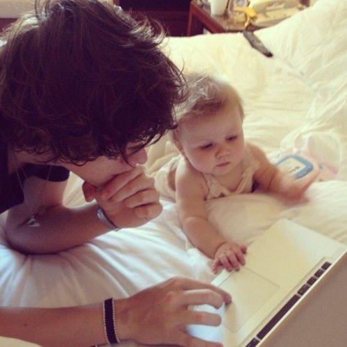 """Harry is an amazing babysitter"" I giggle and smile -Karly / ""thank youuuu"" I smile -Harry"