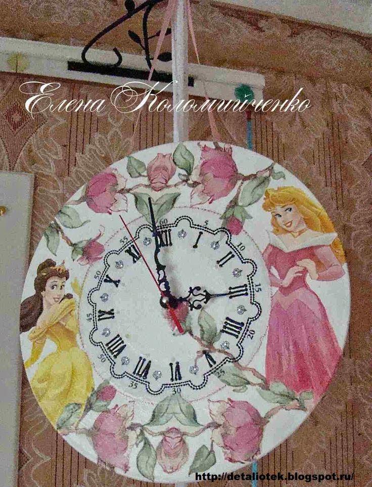 """Часы """"Принцессы Дисней"""""""