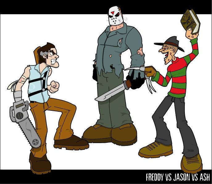Freddy versus Jason versus Ash,who will win?