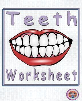Teeth and Oral Hygiene Worksheets