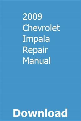 2009 Chevrolet Impala Repair Manual Owners Manuals Ford Fusion Repair Manuals