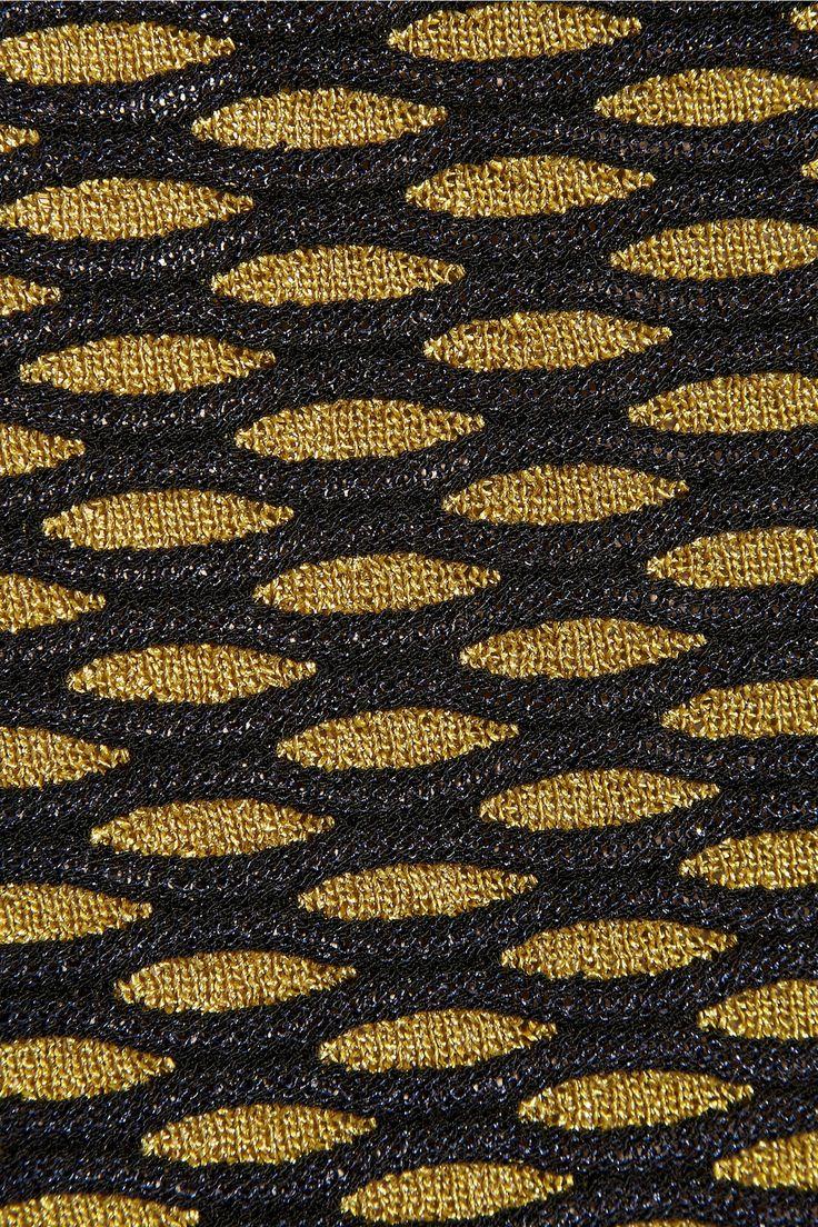 How to do this on a home machine? - M Missoni | Metallic crochet-knit skirt | NET-A-PORTER.COM