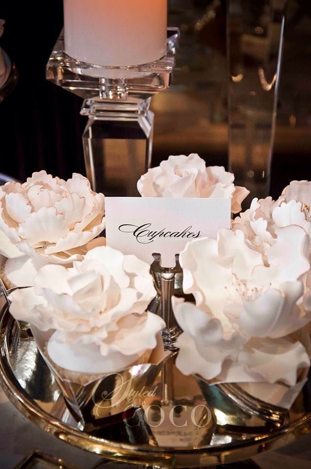 White Glam Wedding. White cocktail wedding at Mon Bijou. Ceremony, dessert buffet, powder room.