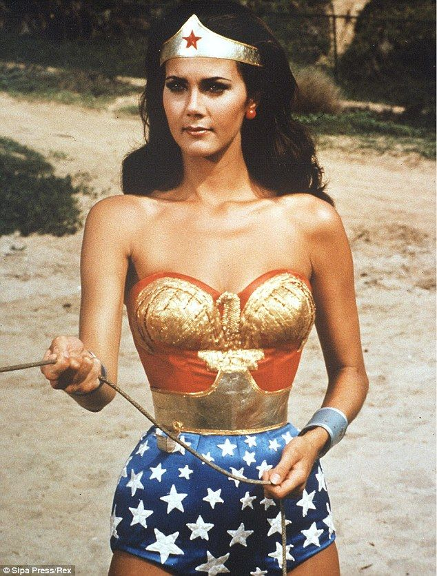 Every woman's favourite superhero: Kim Kardashian and Melissa Gorga dressed up for Halloween as Wonder Woman, who Lynda played from 1975 to ...