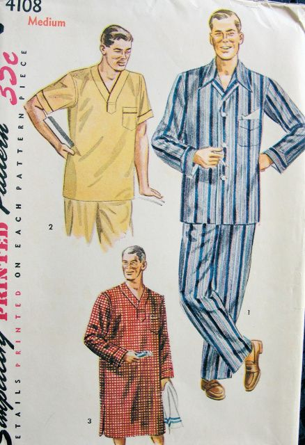 9 best 1950 s mens vintage pajamas nightwear images on