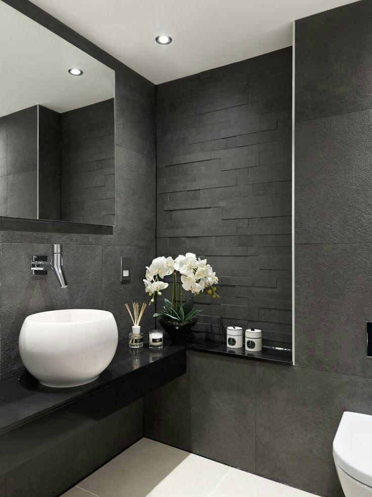 Dark cloakroom WC