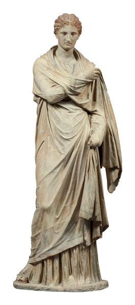 Marble female funerary statue, found on Delos, Cyclades  Copy made in the 2nd c. BC of an original dating from about 300 BC.