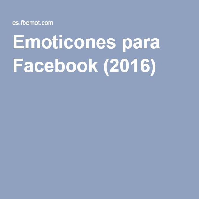 Emoticones para Facebook (2016)