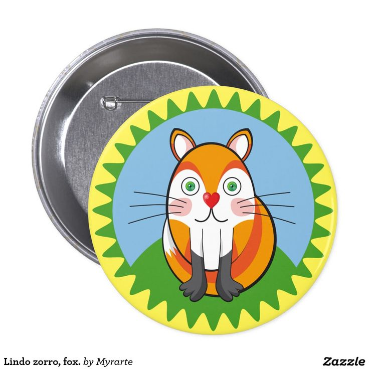 Lindo zorro, fox. Producto disponible en tienda Zazzle. Product available in Zazzle store. Regalos, Gifts. Link to product: http://www.zazzle.com/lindo_zorro_fox_button-145549732462930674?CMPN=shareicon&lang=en&social=true&rf=238167879144476949 #chapa #button #zorro #fox