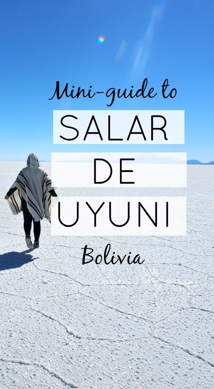 A mini guide to Salar de Uyuni, the biggest salt flats in the whole world. How to get there? What to bring and which tour to take? Find out!