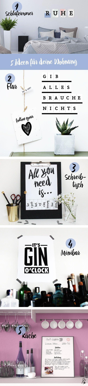 5 Deko-Ideen für deine Wohnung! Einfach und schnell umdekorieren. Wir zeigen dir wie: www.printityourself.de/blog