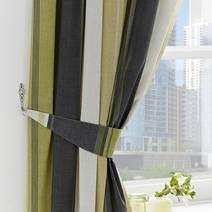 Green Finley Pencil Pleat Curtains