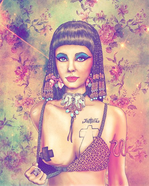 Cleopatra re-imagined as a modern badass by Fab Ciraolo, who also did Salvador Dali, Frida Kahlo and Che.