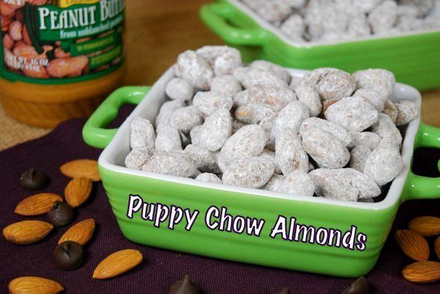 Puppy Chow Almonds: Puppy Chow, Chow Almonds, Recipes Desserts, Sweet Treats, Food Yumm, Savory Recipes, Favorite Recipes, Almonds Food, Puppies Chow