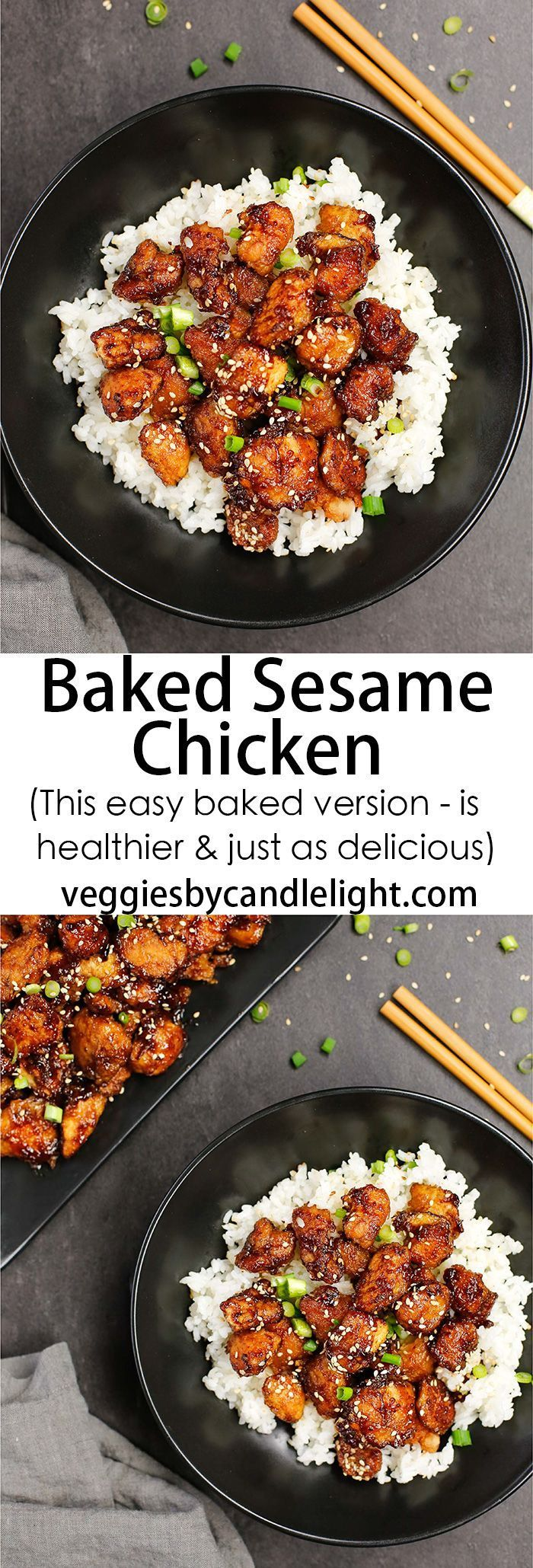 Baked Sesame Chicken - When it comes to dinner, you can either call your local Chinese takeout joint or make Sesame Chicken yourself. This baked version is every bit as delicious!
