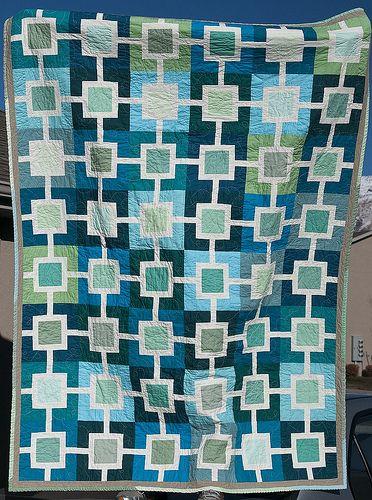 121 best Cool Color Quilts images on Pinterest | Quilt block ... : quilt colors schemes - Adamdwight.com